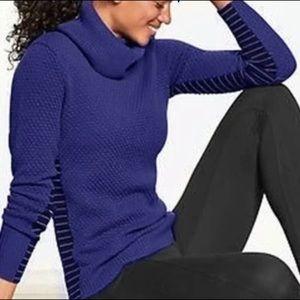 Athleta Marina Chianti Turtleneck Merino Wool Sweater. Size XS.